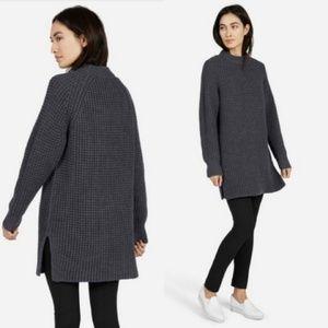 Everlane Merino Wool Waffle Knit Tunic Sweater EUC
